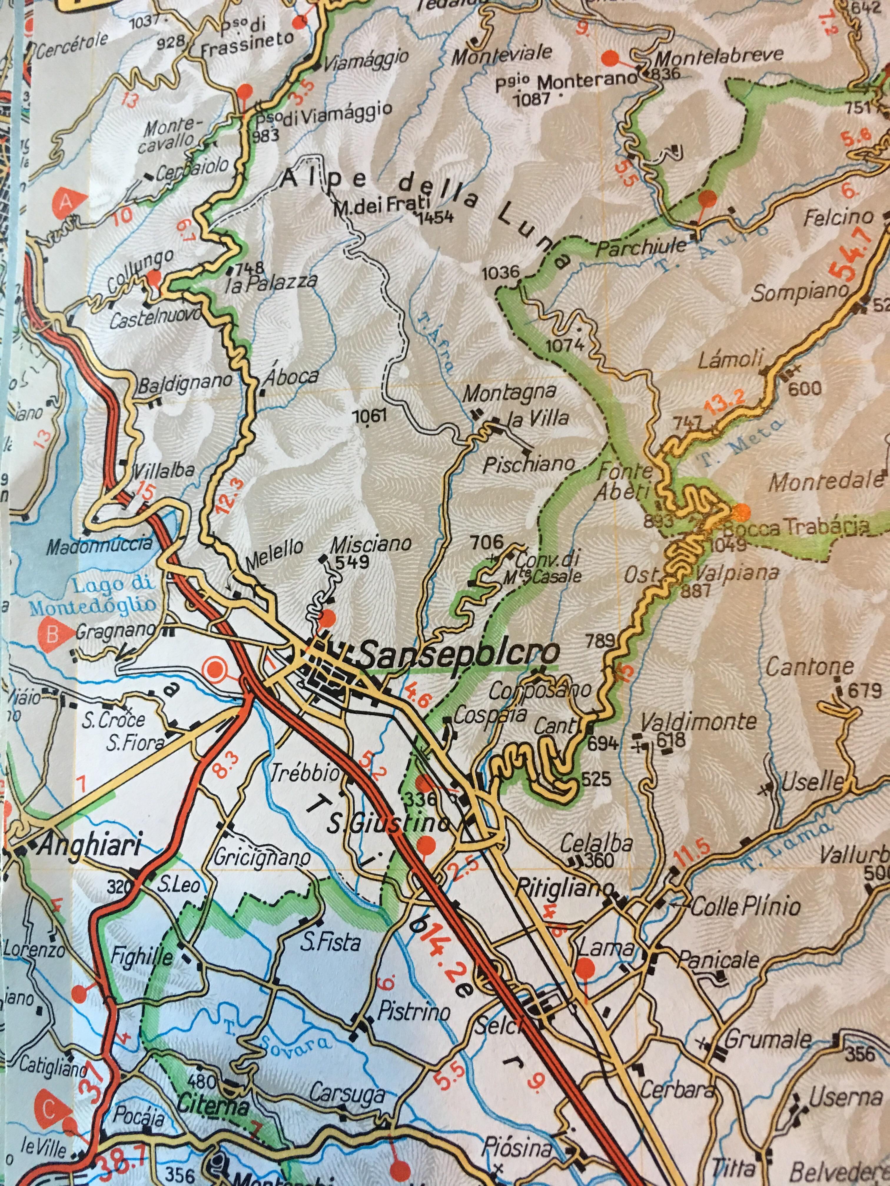 Anghiari Italy Map.Day34 Anghiari To Lamoli Travels With Marilyn Page 2